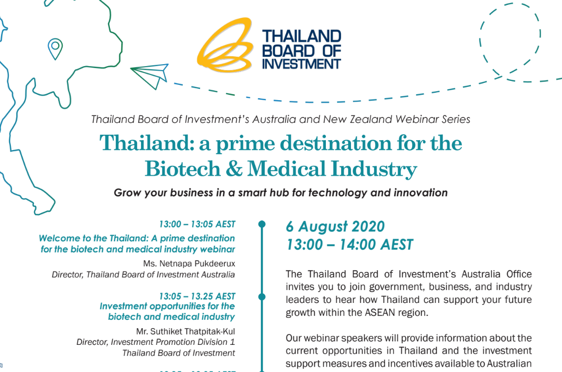 Thailand: a prime destination for the Biotech & Medical Industry