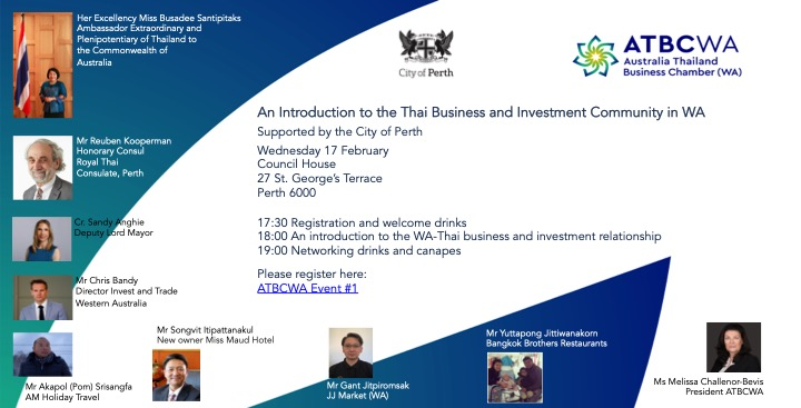 An Introduction to the Thai Business and Investment Community in WA